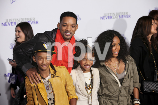 """Justin Bieber: Never Say Never"" Premiere Will Smith, Jada Pinkett Smith, Jaden Smith, Willow Smith 2-8-2011 / Nokia Theater L.A. Live / Paramount Pictures / Los Angeles CA / Photo by Imeh Akpanudosen - Image 24016_0479"