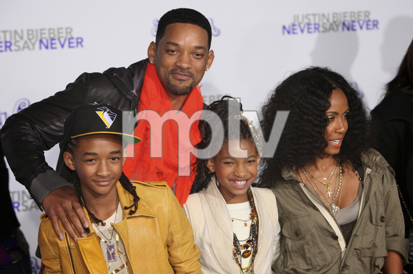 """""""Justin Bieber: Never Say Never"""" Premiere Will Smith, Jada Pinkett Smith, Jaden Smith, Willow Smith 2-8-2011 / Nokia Theater L.A. Live / Paramount Pictures / Los Angeles CA / Photo by Imeh Akpanudosen - Image 24016_0480"""
