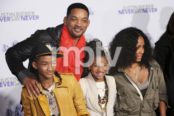 """""""Justin Bieber: Never Say Never"""" Premiere Will Smith, Jada Pinkett Smith, Jaden Smith, Willow Smith 2-8-2011 / Nokia Theater L.A. Live / Paramount Pictures / Los Angeles CA / Photo by Imeh Akpanudosen - Image 24016_0481"""