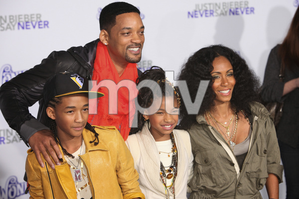 """Justin Bieber: Never Say Never"" Premiere Will Smith, Jada Pinkett Smith, Jaden Smith, Willow Smith 2-8-2011 / Nokia Theater L.A. Live / Paramount Pictures / Los Angeles CA / Photo by Imeh Akpanudosen - Image 24016_0482"