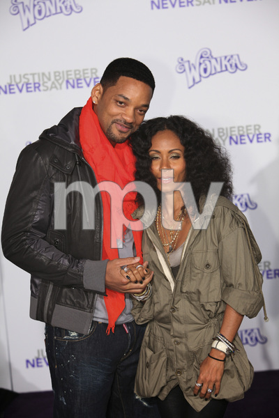 """""""Justin Bieber: Never Say Never"""" Premiere Will Smith, Jada Pinkett Smith 2-8-2011 / Nokia Theater L.A. Live / Paramount Pictures / Los Angeles CA / Photo by Imeh Akpanudosen - Image 24016_0487"""