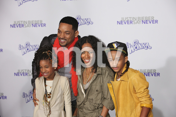 """""""Justin Bieber: Never Say Never"""" Premiere Will Smith, Jada Pinkett Smith, Jaden Smith, Willow Smith 2-8-2011 / Nokia Theater L.A. Live / Paramount Pictures / Los Angeles CA / Photo by Imeh Akpanudosen - Image 24016_0492"""