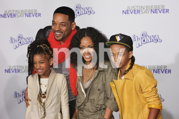 """Justin Bieber: Never Say Never"" Premiere Will Smith, Jada Pinkett Smith, Jaden Smith, Willow Smith 2-8-2011 / Nokia Theater L.A. Live / Paramount Pictures / Los Angeles CA / Photo by Imeh Akpanudosen - Image 24016_0493"