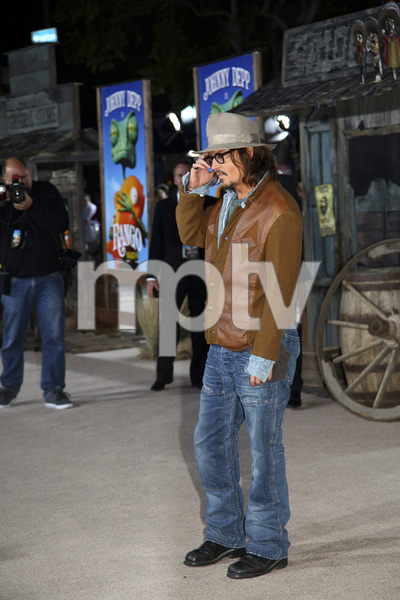 """Rango"" Premiere Johnny Depp 2-14-2011 / Paramount Studios / Village Theater / Los Angeles CA / Photo by Imeh Akpanudosen - Image 24022_0168"