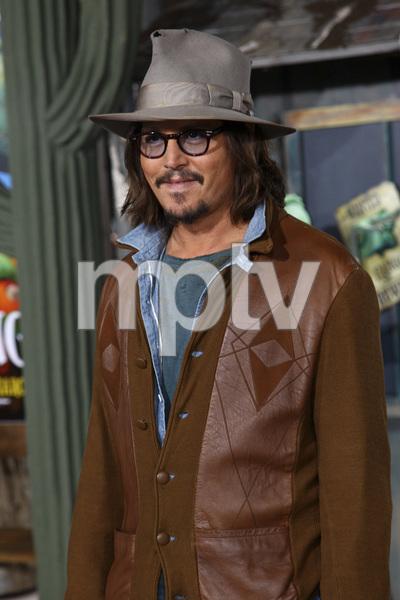 """Rango"" Premiere Johnny Depp 2-14-2011 / Paramount Studios / Village Theater / Los Angeles CA / Photo by Imeh Akpanudosen - Image 24022_0173"