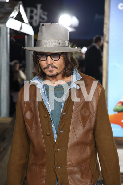 """Rango"" Premiere Johnny Depp 2-14-2011 / Paramount Studios / Village Theater / Los Angeles CA / Photo by Imeh Akpanudosen - Image 24022_0191"