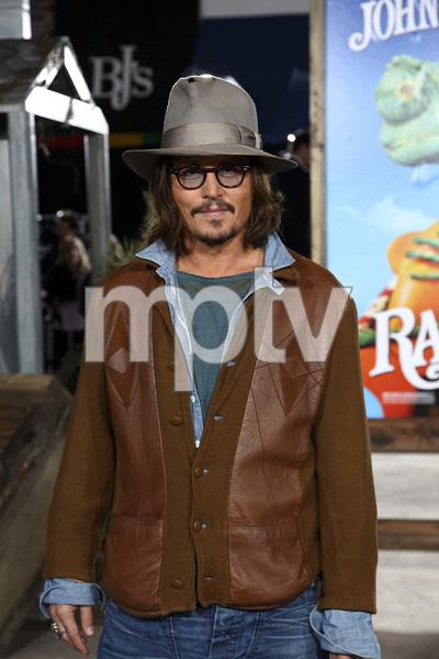 """Rango"" Premiere Johnny Depp 2-14-2011 / Paramount Studios / Village Theater / Los Angeles CA / Photo by Imeh Akpanudosen - Image 24022_0205"