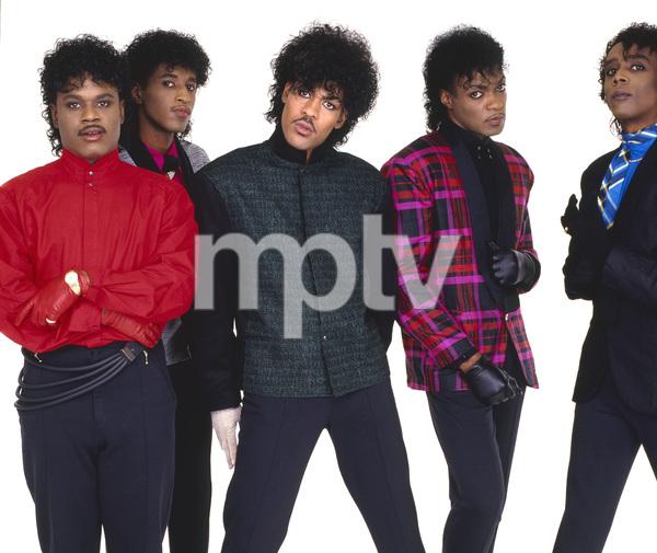 """The Deele""Darnell ""Dee"" Bristol, Kenny ""Babyface"" Edmonds, Carlos ""Satin"" Greene, Antonio ""L.A."" Reid, Kevin ""Kayo"" Roberson 1985 © 1985 Bobby Holland - Image 24025_0004"
