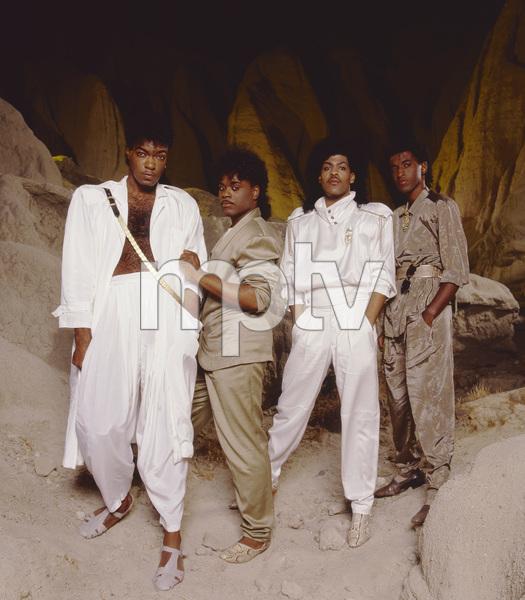 """The Deele""Darnell ""Dee"" Bristol, Kenny ""Babyface"" Edmonds, Antonio ""L.A."" Reid, Kevin ""Kayo"" Roberson 1987 © 1987 Bobby Holland - Image 24025_0006"