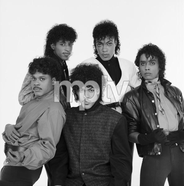 """The Deele""Darnell ""Dee"" Bristol, Kenny ""Babyface"" Edmonds, Carlos ""Satin"" Greene, Antonio ""L.A."" Reid, Kevin ""Kayo"" Roberson 1985 © 1985 Bobby Holland - Image 24025_0009"