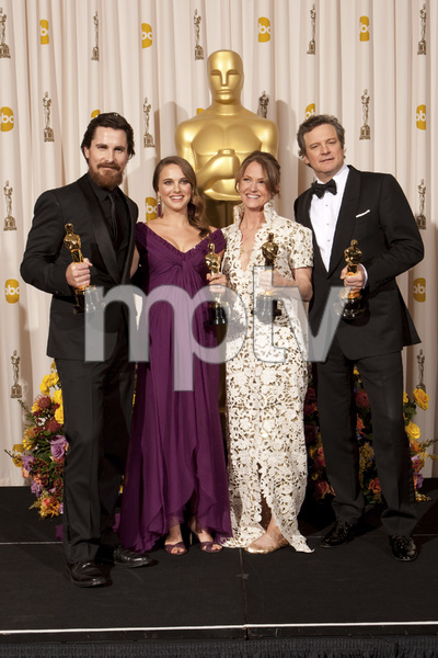 """The Academy Awards - 83rd Annual"" (Press Room) Christian Bale, Natalie Portman, Melissa Leo, Colin Firth2-27-2011Photo by Rick Salyer © 2011 A.M.P.A.S. - Image 24036_0285"