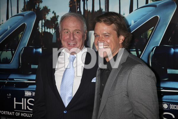 """His Way"" Premiere Jerry Weintraub, Matt Damon 3-22-2011 / HBO / Paramount Theater / Hollywood CA / Photo by Imeh Akpanudosen - Image 24043_0088"