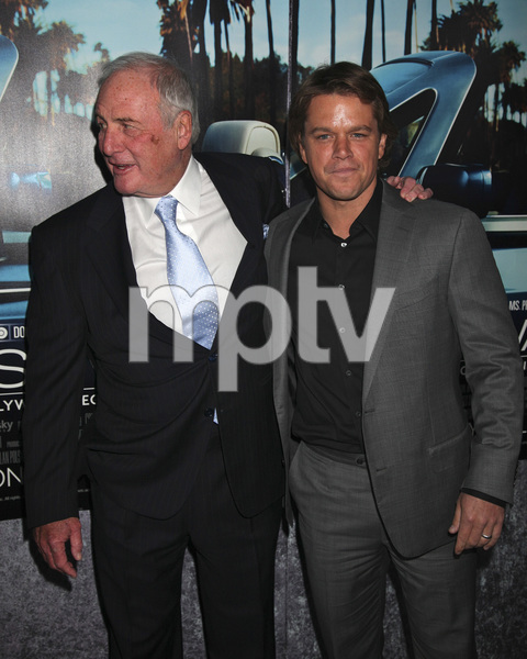 """His Way"" Premiere Jerry Weintraub, Matt Damon 3-22-2011 / HBO / Paramount Theater / Hollywood CA / Photo by Imeh Akpanudosen - Image 24043_0091"