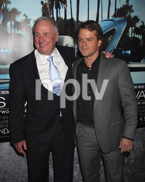 """His Way"" Premiere Jerry Weintraub, Matt Damon 3-22-2011 / HBO / Paramount Theater / Hollywood CA / Photo by Imeh Akpanudosen - Image 24043_0092"
