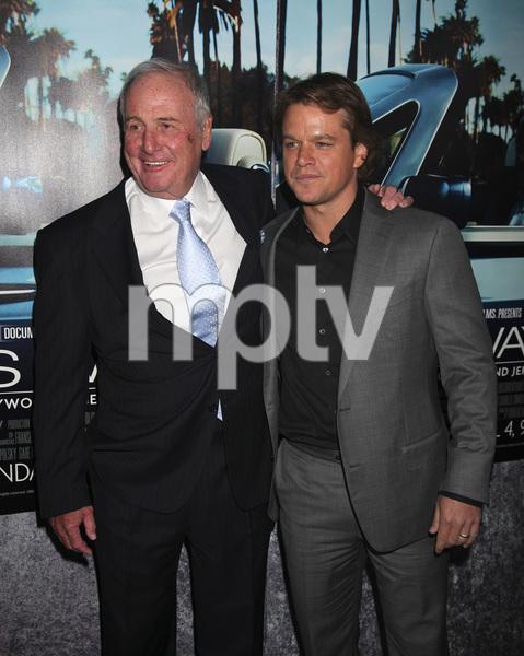 """His Way"" Premiere Jerry Weintraub, Matt Damon 3-22-2011 / HBO / Paramount Theater / Hollywood CA / Photo by Imeh Akpanudosen - Image 24043_0092"