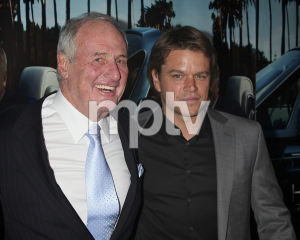 """His Way"" Premiere Jerry Weintraub, Matt Damon 3-22-2011 / HBO / Paramount Theater / Hollywood CA / Photo by Imeh Akpanudosen - Image 24043_0094"