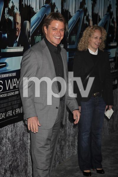 """His Way"" Premiere Matt Damon 3-22-2011 / HBO / Paramount Theater / Hollywood CA / Photo by Imeh Akpanudosen - Image 24043_0112"