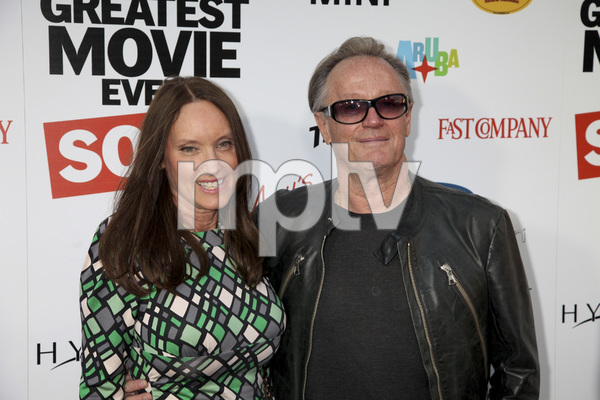 """The Greatest Movie Ever Sold"" Premiere Parky DeVogelaere, Peter Fonda4-20-2011 / ArcLight Cinemas / Hollywood CA / Sony Pictures Classics / Photo by Imeh Akpanudosen - Image 24045_0114"