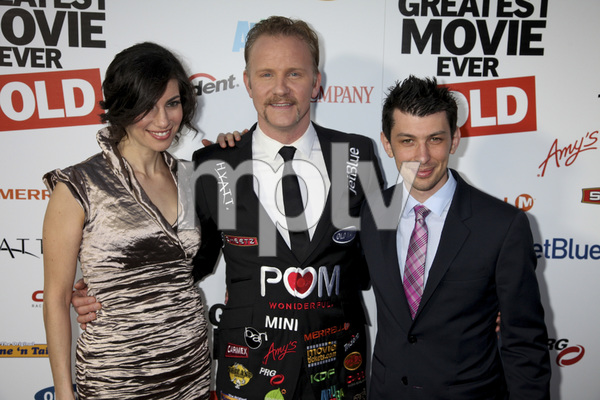 """""""The Greatest Movie Ever Sold"""" Premiere Producer Abbie Hurewitz, Morgan Spurlock, Producer Jeremy Chilnick4-20-2011 / ArcLight Cinemas / Hollywood CA / Sony Pictures Classics / Photo by Imeh Akpanudosen - Image 24045_0184"""