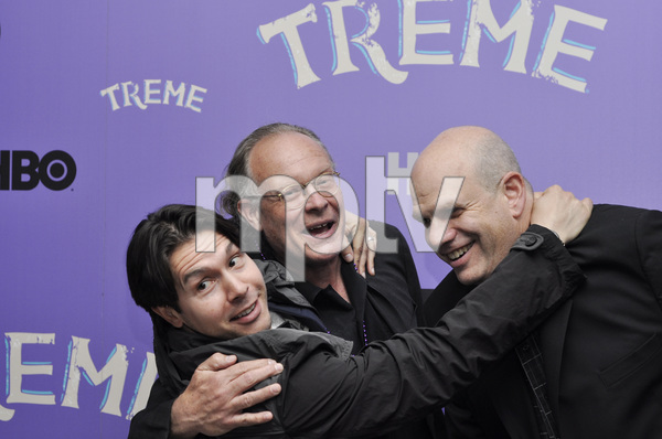 """Treme"" PremiereJon Seda, Eric Overmyer and David Simon4-21-2011 / Museum of Modern Art / New York NY / HBO / Photo by Eric Reichbaum - Image 24047_0164"