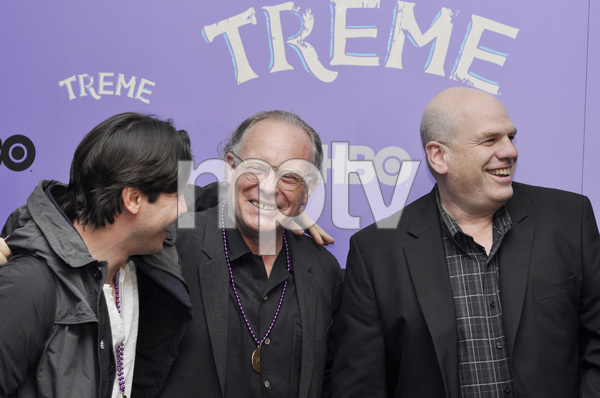 """Treme"" PremiereJon Seda, Eric Overmyer and David Simon4-21-2011 / Museum of Modern Art / New York NY / HBO / Photo by Eric Reichbaum - Image 24047_0165"