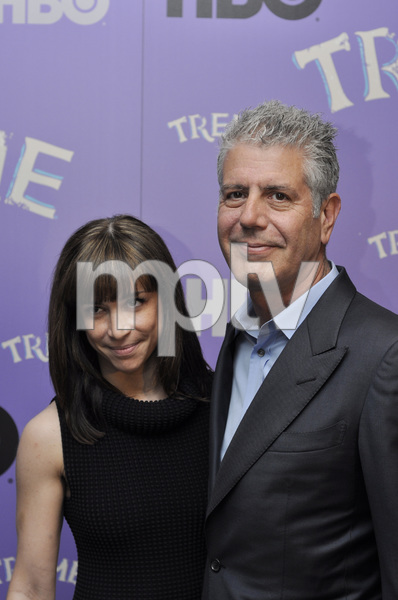 """""""Treme"""" PremiereOttavia Busia, Anthony Bourdain4-21-2011 / Museum of Modern Art / New York NY / HBO / Photo by Eric Reichbaum - Image 24047_0240"""