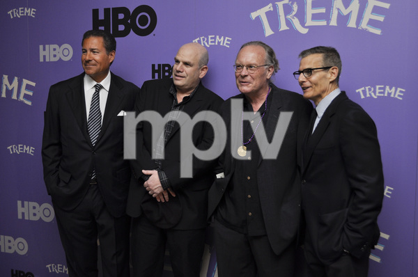 """Treme"" PremiereRichard Butler, creator David Simon, Eric Overmyer and Michael Lombardo4-21-2011 / Museum of Modern Art / New York NY / HBO / Photo by Eric Reichbaum - Image 24047_0331"