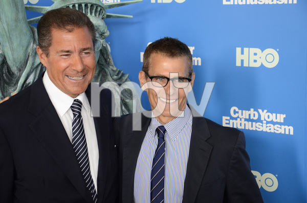 """""""Curb Your Enthusiasm"""" PremiereRichard Plepler, Michael Lombardo7-6-2011 / Time Warner Screening Room / New York NY / HBO / Photo by Eric Reichbaum - Image 24075_0128"""