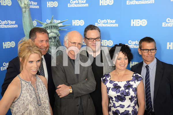 """Curb Your Enthusiasm"" PremiereCheryl Hines, Larry David, Jeff Garlin, Susie Essman7-6-2011 / Time Warner Screening Room / New York NY / HBO / Photo by Eric Reichbaum - Image 24075_0129"