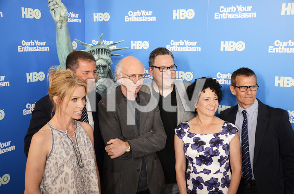 """Curb Your Enthusiasm"" PremiereCheryl Hines, Larry David, Jeff Garlin, Susie Essman7-6-2011 / Time Warner Screening Room / New York NY / HBO / Photo by Eric Reichbaum - Image 24075_0133"