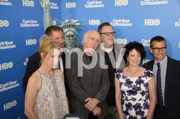"""Curb Your Enthusiasm"" PremiereCheryl Hines, Larry David, Jeff Garlin, Susie Essman7-6-2011 / Time Warner Screening Room / New York NY / HBO / Photo by Eric Reichbaum - Image 24075_0135"