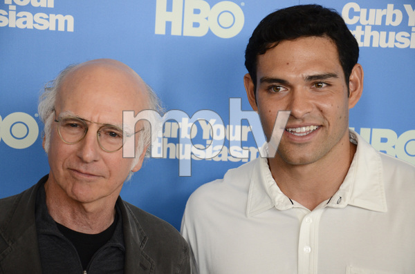 """""""Curb Your Enthusiasm"""" PremiereLarry David, Mark Sanchez7-6-2011 / Time Warner Screening Room / New York NY / HBO / Photo by Eric Reichbaum - Image 24075_0159"""
