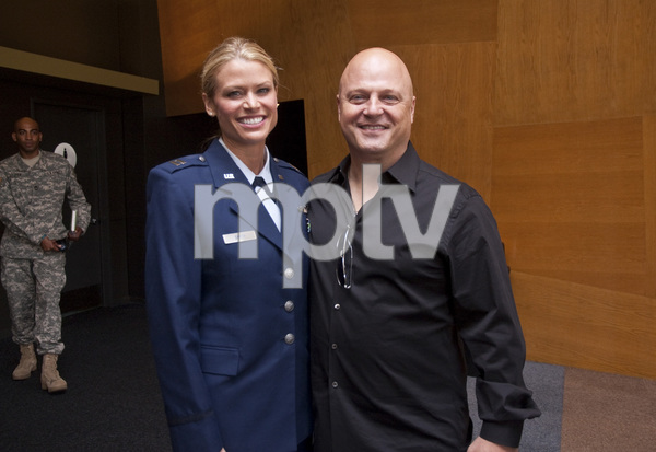 National Guard Aircraft Commander Cpt. Kelly Smith and Michael Chiklis at the Joining Forces panel held at the WGAW Theater in Beverly Hills, CA06-13-2011© 2011 Michael Jones - Image 24076_0006