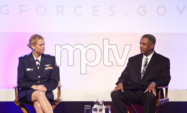 National Guard Aircraft Commander Cpt. Kelly Smith and retired Sgt. Bobby Jarman at the Joining Forces panel held at the WGAW Theater in Beverly Hills, CA06-13-2011© 2011 Michael Jones - Image 24076_0026