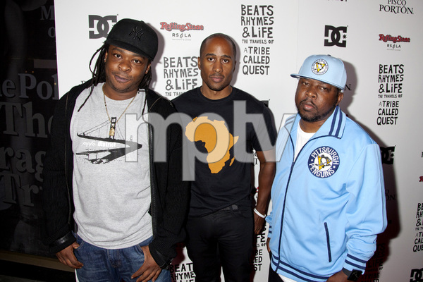 """Beats, Rhymes and Life: The Travels of A Tribe Called Quest"" Premiere After Party Jarobi White, Ali Shaheed Muhammad, Phife Dawg 6-24-2011 / Rolling Stone Restaurant and Lounge / Hollywood CA / Song Pictures Classics / Photo by Imeh Akpanudosen - Image 24078_0070"