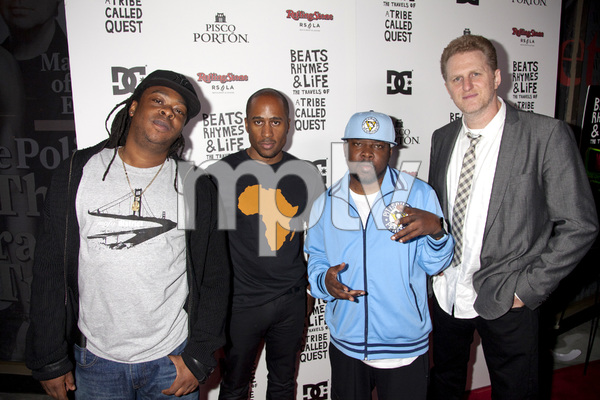 """Beats, Rhymes and Life: The Travels of A Tribe Called Quest"" Premiere After Party Jarobi White, Ali Shaheed Muhammad, Phife Dawg, Michael Rapaport 6-24-2011 / Rolling Stone Restaurant and Lounge / Hollywood CA / Song Pictures Classics / Photo by Imeh Akpanudosen - Image 24078_0073"