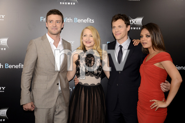 """Friends with Benefits"" Premiere Justin Timberlake, Patricia Clarkson, Will Gluck, Mila Kunis7-18-2011 / Ziegfeld Theater / New York NY / Screen Gems / Photo by Eric Reichbaum - Image 24082_0172"