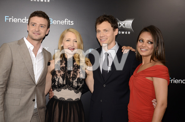 """Friends with Benefits"" Premiere Justin Timberlake, Patricia Clarkson, Will Gluck, Mila Kunis7-18-2011 / Ziegfeld Theater / New York NY / Screen Gems / Photo by Eric Reichbaum - Image 24082_0173"