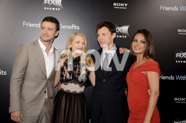 """""""Friends with Benefits"""" Premiere Justin Timberlake, Patricia Clarkson, Will Gluck, Mila Kunis7-18-2011 / Ziegfeld Theater / New York NY / Screen Gems / Photo by Eric Reichbaum - Image 24082_0174"""