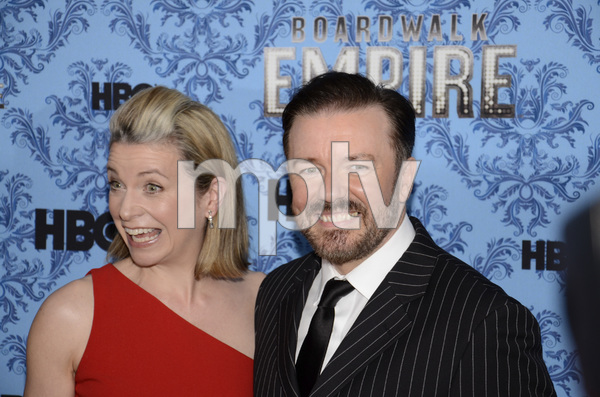 """Boardwalk Empire"" Premiere Ricky Gervais, Jane Fallon9-14-2011 / Ziegfeld Theater / New York NY / HBO / Photo by Eric Reichbaum - Image 24095_0024"