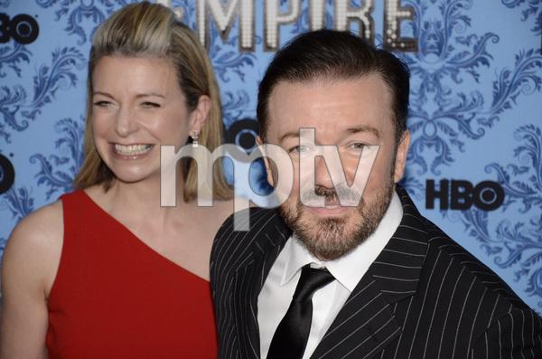 """Boardwalk Empire"" Premiere Ricky Gervais, Jane Fallon9-14-2011 / Ziegfeld Theater / New York NY / HBO / Photo by Eric Reichbaum - Image 24095_0025"