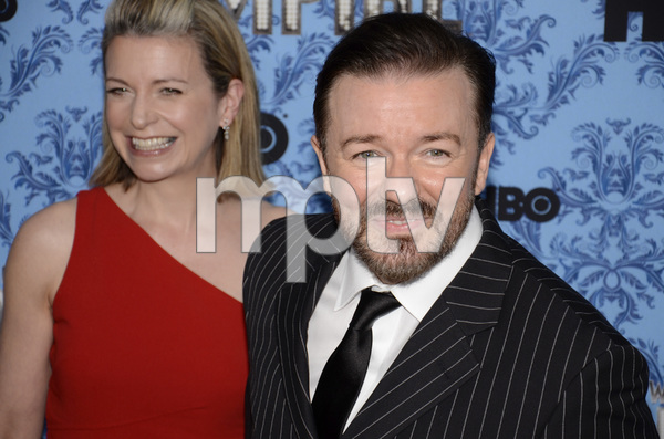 """Boardwalk Empire"" Premiere Ricky Gervais, Jane Fallon9-14-2011 / Ziegfeld Theater / New York NY / HBO / Photo by Eric Reichbaum - Image 24095_0026"