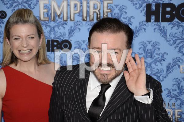 """Boardwalk Empire"" Premiere Ricky Gervais, Jane Fallon9-14-2011 / Ziegfeld Theater / New York NY / HBO / Photo by Eric Reichbaum - Image 24095_0027"