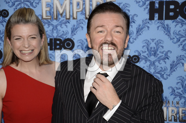 """Boardwalk Empire"" Premiere Ricky Gervais, Jane Fallon9-14-2011 / Ziegfeld Theater / New York NY / HBO / Photo by Eric Reichbaum - Image 24095_0028"