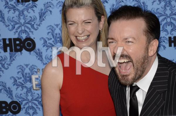 """Boardwalk Empire"" Premiere Ricky Gervais, Jane Fallon9-14-2011 / Ziegfeld Theater / New York NY / HBO / Photo by Eric Reichbaum - Image 24095_0031"