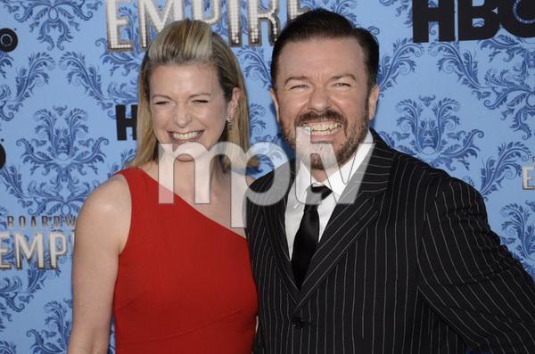 """Boardwalk Empire"" Premiere Ricky Gervais, Jane Fallon9-14-2011 / Ziegfeld Theater / New York NY / HBO / Photo by Eric Reichbaum - Image 24095_0032"