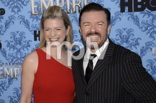 """Boardwalk Empire"" Premiere Ricky Gervais, Jane Fallon9-14-2011 / Ziegfeld Theater / New York NY / HBO / Photo by Eric Reichbaum - Image 24095_0032"