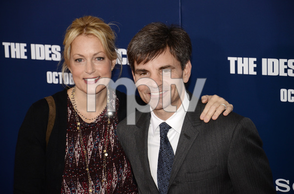 """The Ides of March"" Premiere Alexandra Wentworth and George Stephanopoulos 10-5-2011 / Ziegfeld Theater / New York NY / Sony Pictures / Photo by Eric Reichbaum - Image 24118_0144"