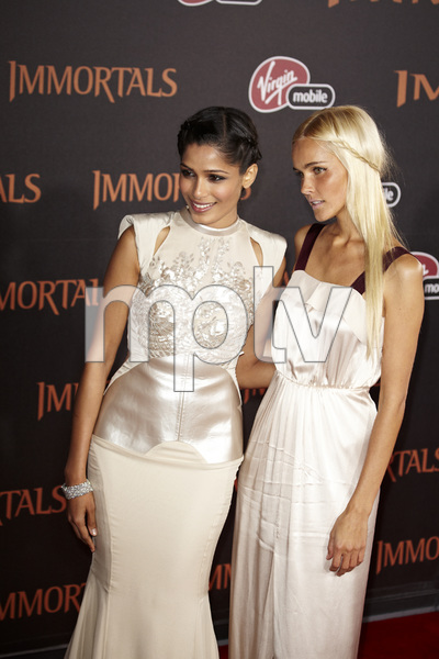 """Immortals"" Premiere Freida Pinto and Isabel Lucas11-7-2011 / Nokia Theater LA Live / Los Angeles CA / Relativity Media / Photo by Benny Haddad - Image 24136_0112"