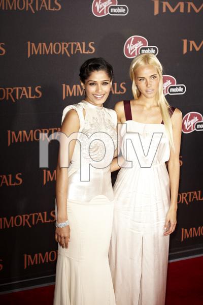 """Immortals"" Premiere Freida Pinto and Isabel Lucas11-7-2011 / Nokia Theater LA Live / Los Angeles CA / Relativity Media / Photo by Benny Haddad - Image 24136_0114"